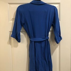 Blue small tie dress! Worn once!